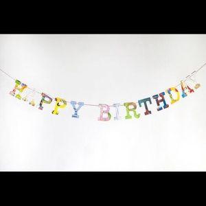 NWT Happy Birthday handmade banner